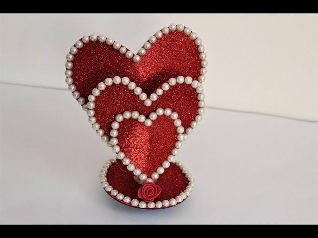 DIY Beautiful Heart showpiece. Gifts Ideas 2018.Beautiful Heart showpiece
