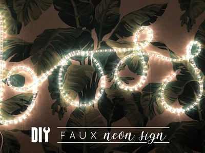 DIY Cheap and Easy Faux Neon Sign