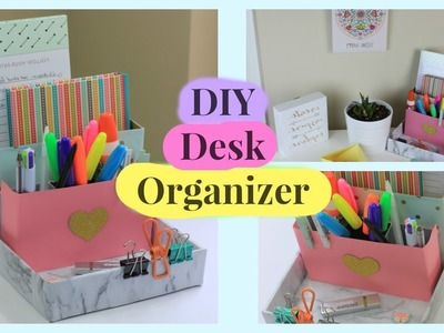 DIY Desktop Organizer - Cardboard - Back to school | Room Decor - How to