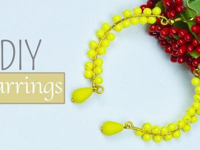 DIY earrings   Wire jewelry making for beginners   Beads art