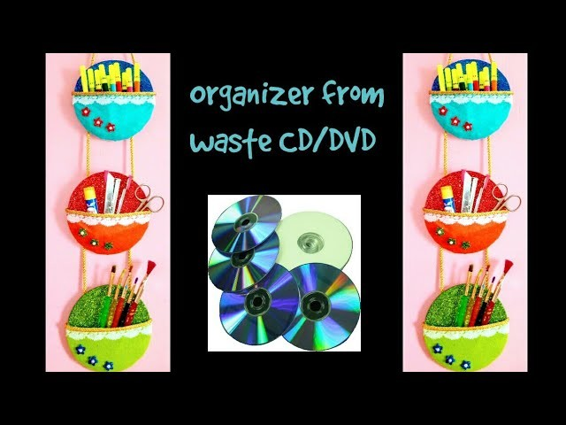DIY Easy organizer from waste CD.DVD | Best out of waste