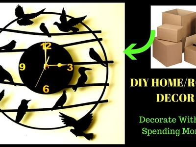 DIY HOME.ROOM DECOR l No COST l BEST OUT OF WASTE  l New on youtube| Reallife Realhome