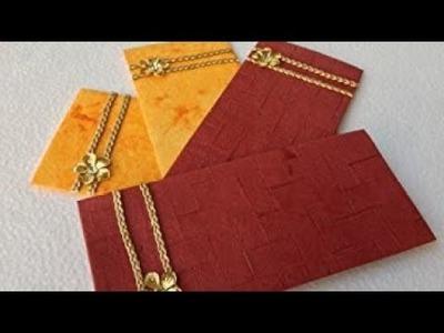 DIY How To Make Envelopes Using Wedding Cards- by Creative Fun Arts.