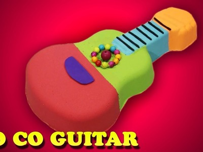 DiY Kinetic Sand Learn Colors Rainbow Pixar Disney CoCo Guitar For Kids - Learning Colours Videos