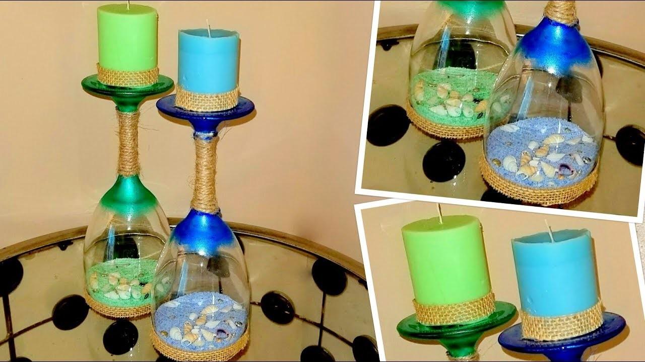 DIY - Ocean Theme Candle Holder