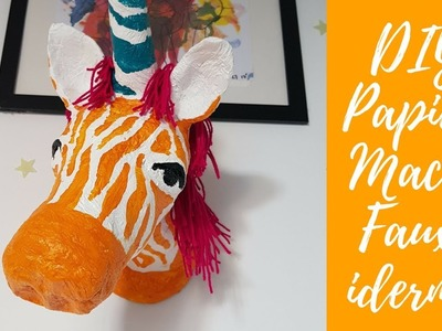 DIY papier mache unicorn