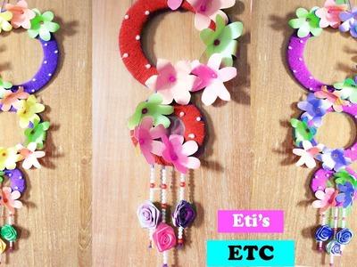 DIY - Wall hanging home decoration idea - Make Flower wall hanging for home - Room Decoration idea
