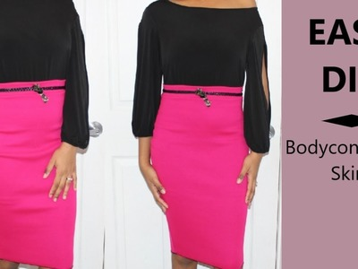 EASY DIY Bodycon Pencil Skirt   Ty Kent