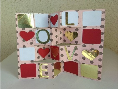 Folding Card for Secret message. DIY Greeting Card for any occasion. Never seen before design