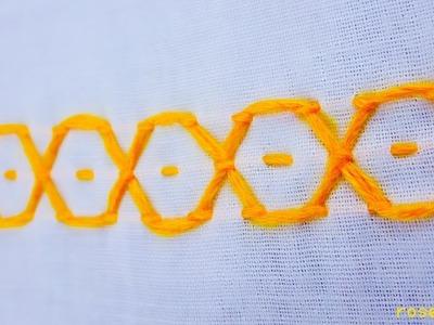 Hand embroidery,nakshi kantha design for border video tutorial