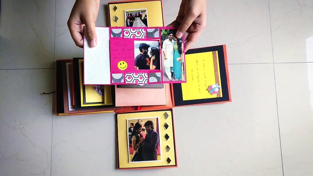 Handmade Explosion Box Wedding Anniversary Gift Nisha Creations