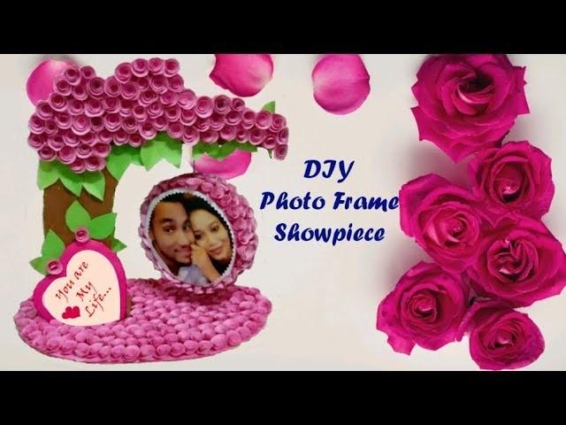 Handmade Photo Frame Showpiece.DIY Photo Frame out of waste cardboard