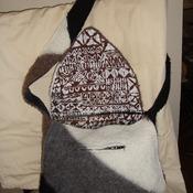 Handmade wool felted purse