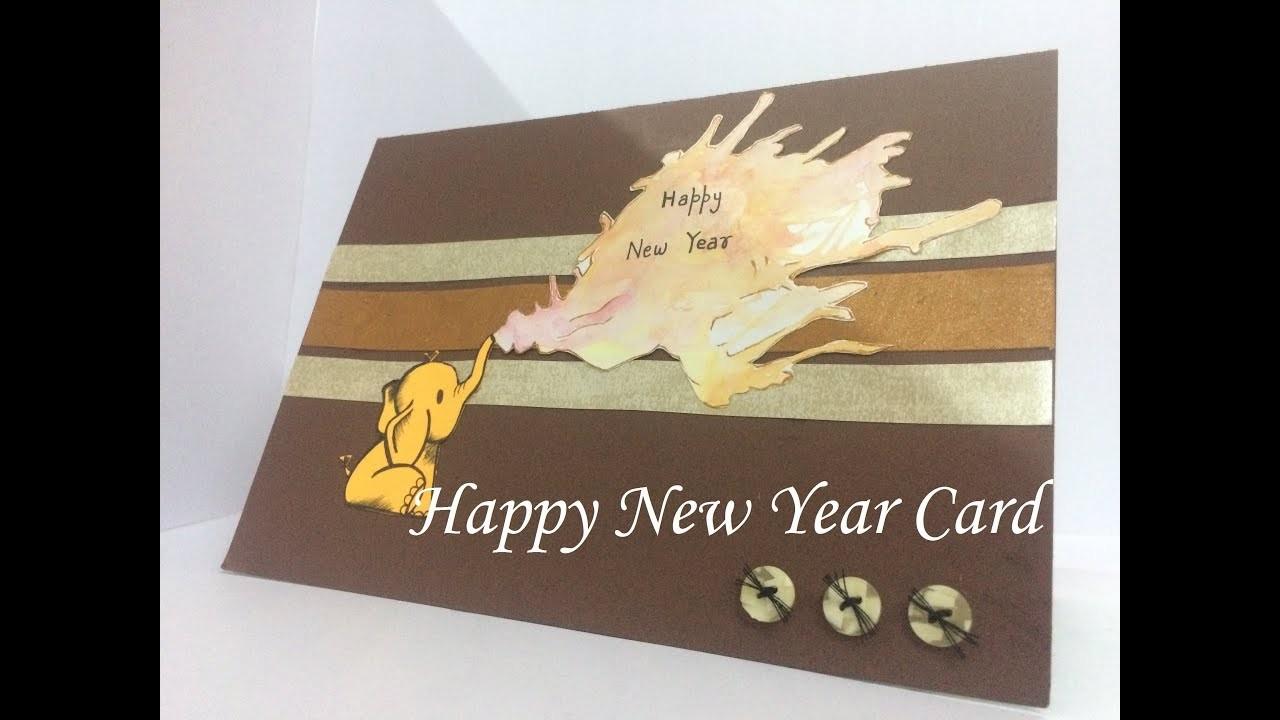 happy new year pan handmade cards