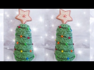 How to make a Christmas Tree Pull Apart Cupcake Tree! Cupcake christmas tree diy