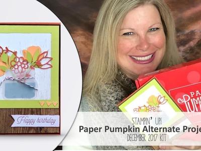 How to make a Flower Jar card featuring December 2017 Paper Pumpkin Stampin Up Kit