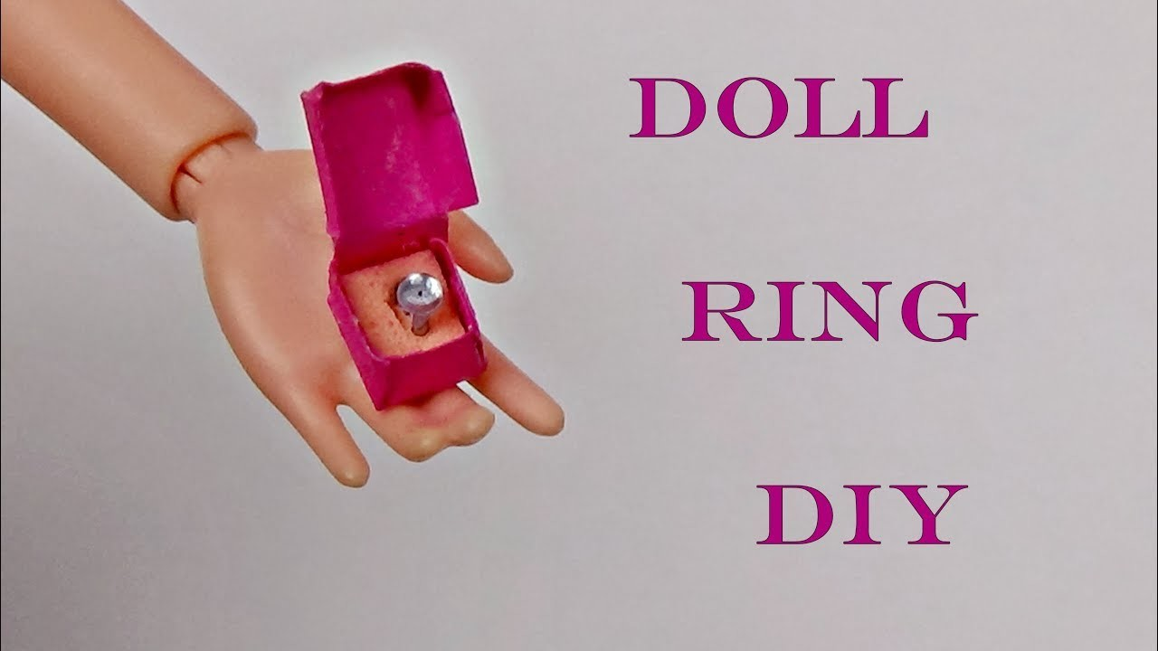 How to make a ring for doll │ Diy Barbie ring │ DIY For Dolls