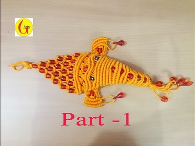 How to make Ganpati with macrame full tutorial Part -1