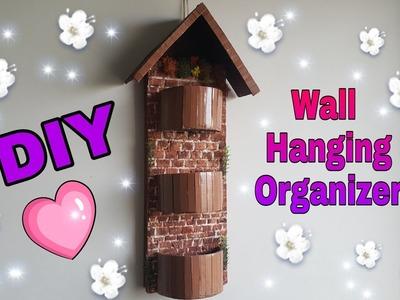 How To Make Organizer   DIY Wall hanging. Room decor Idea. Space Saving Organizer: