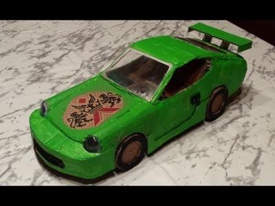 How to make RC Car Porsche  Cardboard DIY