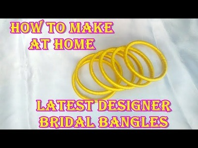 How to make Silk Thread Designer Kundan Bangles at Home||DIY||Grand ideas