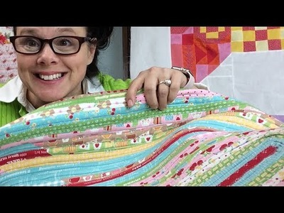 How to sew a Jelly Roll Rug with 2.5 inch strips