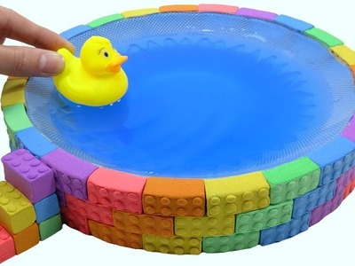 Learn Colours Mad Mattr Rainbow Lego Duck Surprise Toys DIY How To Make Nursery Rhymes Song For Kids