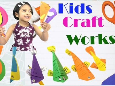 Learning Craft Work with Sefu. Kids make kids to laugh. She also play with cats. Funny videos 2018