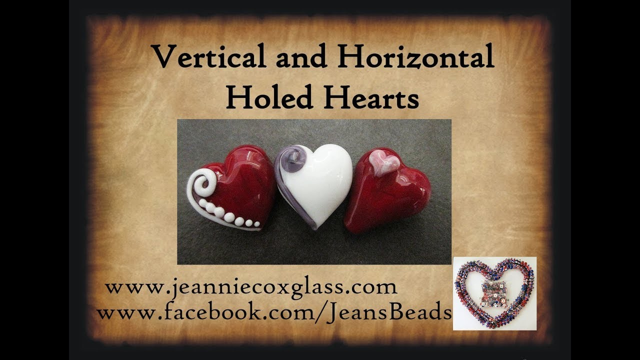 Making Glass Heart Beads by Jeannie Cox