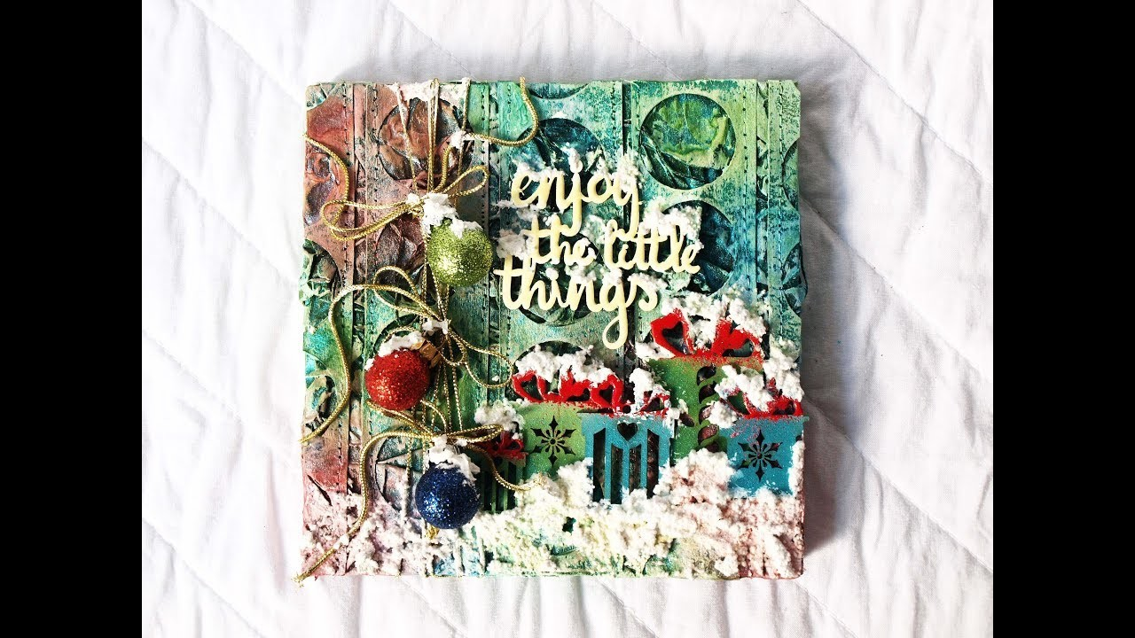 "Mixed Media Collage ""Christmas"""