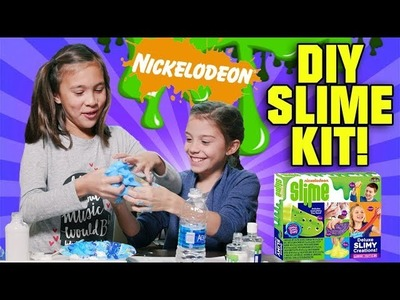 NICKELODEON DIY SLIME KIT!!! Glow In the Dark Googly Eye Foam Glitter Slime!