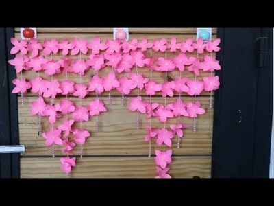 Paper wind chimes-How to make wind chime out of paper-wall hanging for decoration