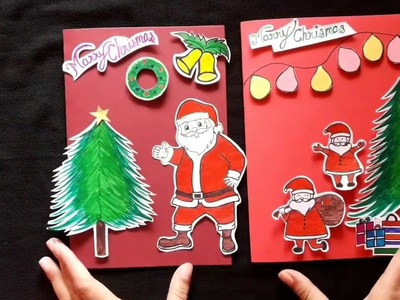 Santa Claus greeting card for Christmas part 2 || easy making