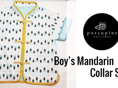Sewing Video Tutorial for Boy's Mandarin Collar Shirt