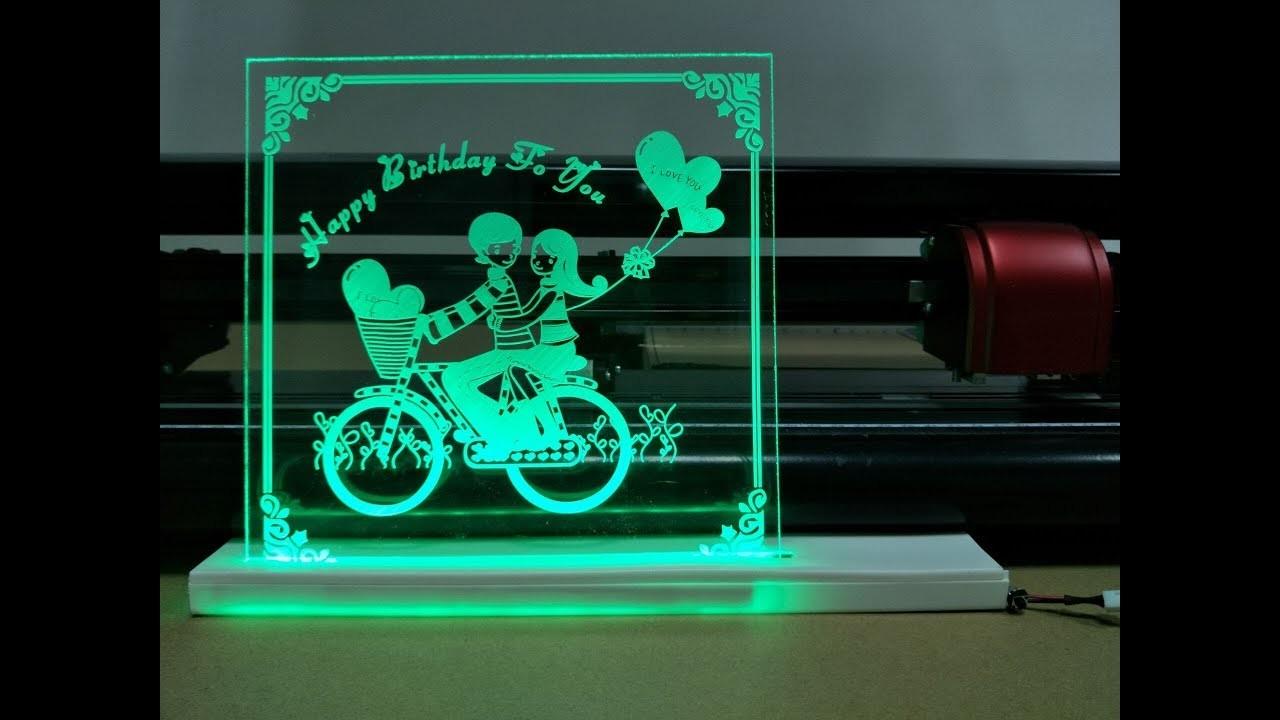 Skycut cutting plotter DIY acrylic light