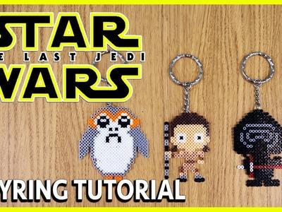 STAR WARS Keyring (Rey, Kylo Ren & Porg) | Mini Perler Bead Tutorial