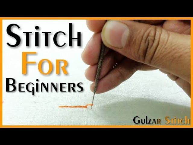 ▶Stitch for beginners || Aari work || hand embroidery