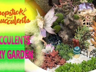 Succulents Fairy Garden (video tutorial)