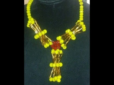 The tutorial on how to make this beautiful talking drum necklace
