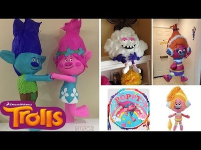 Trolls pinata poppy party ideas DIY