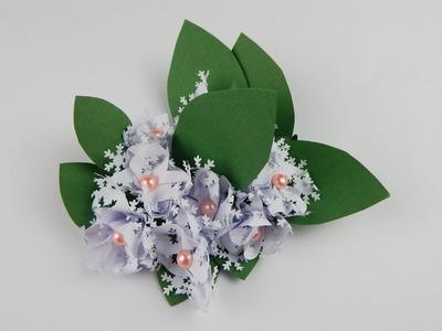 Winter decoration ice flowers DIY papercraft snow flowers Schneeblumen Eisblumen