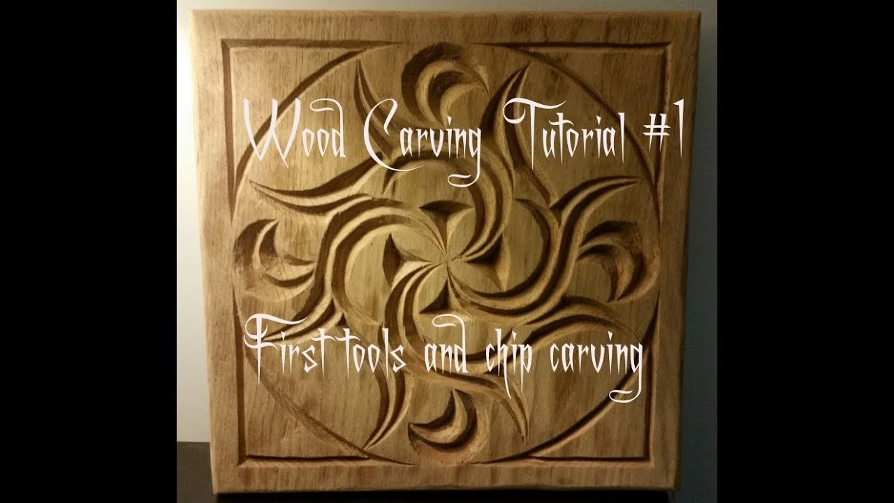 Wood Carving Tutorial #1 First tools and chip carving