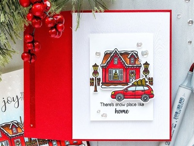Yippee for Yana: Clean and Simple There's Snow Place Like Home Christmas Card