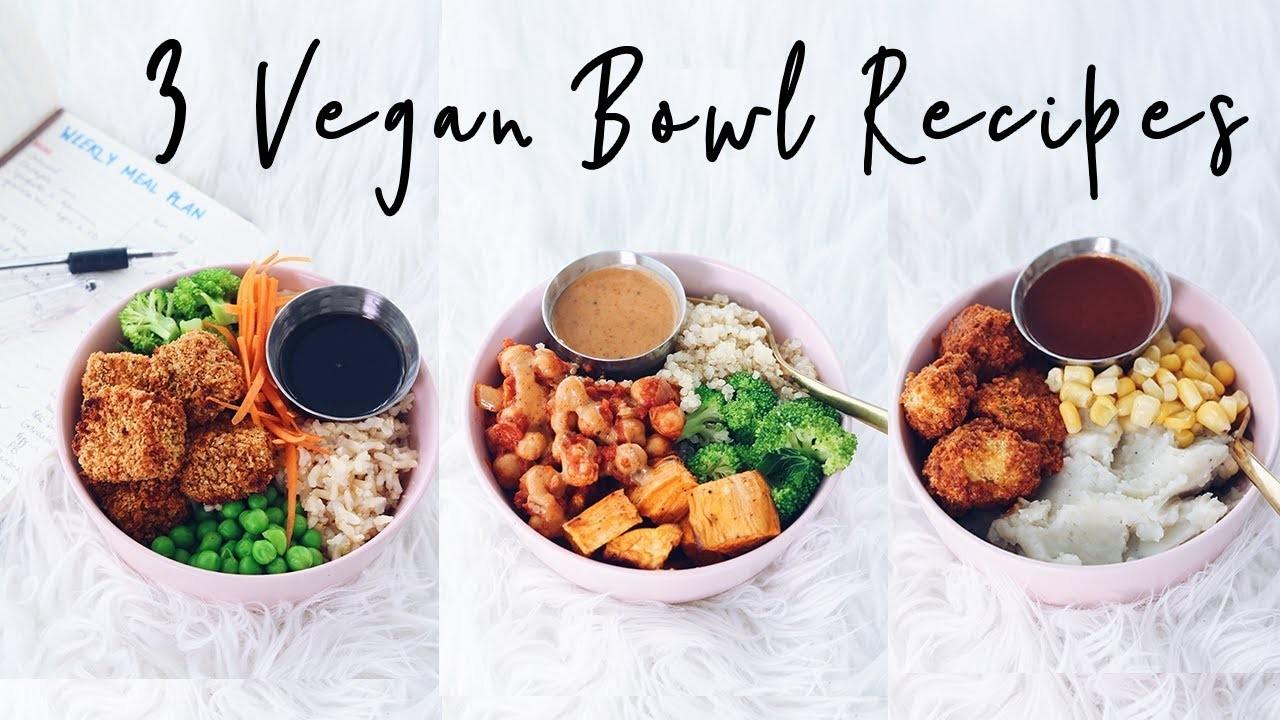 3 Easy Vegan Recipes + Meal Plan DIY