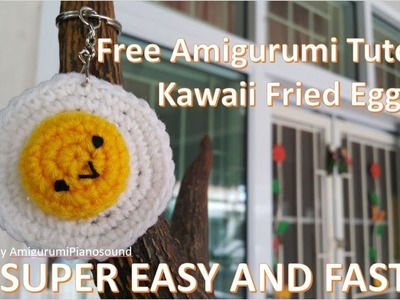 Amigurumi Kawaii Fried Egg Tutorial for beginner [with narration]