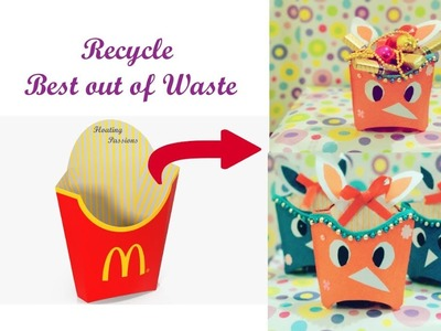 Best out of waste | Recycle McDonalds French Fries Box to Gift Box | Recycled Crafts | Goodies Box