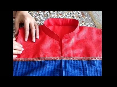 Collar neck cutting and stitching in hindi
