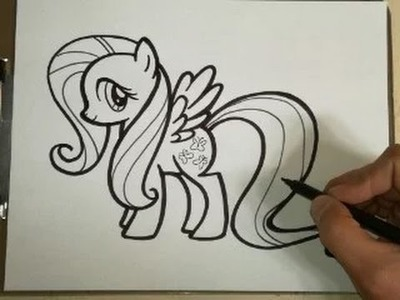 COMO DIBUJAR A FLUTTERSHY - MY LITTLE PONY. how to draw fluttershy - my little pony