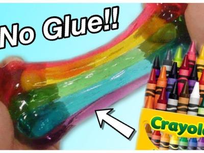 Crayon Slime!! ???? No Glue School Supply Slime!!