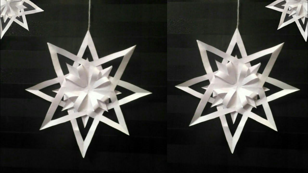 Decoration idea| Festive Decor| Easy to make Star-3 | DIY| Snowflake for Christmas Tree Decoration-5